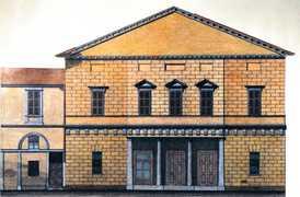 Prospetto del Teatro Sulla Via Verdi